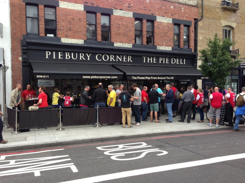 Image result for pie corner arsenal