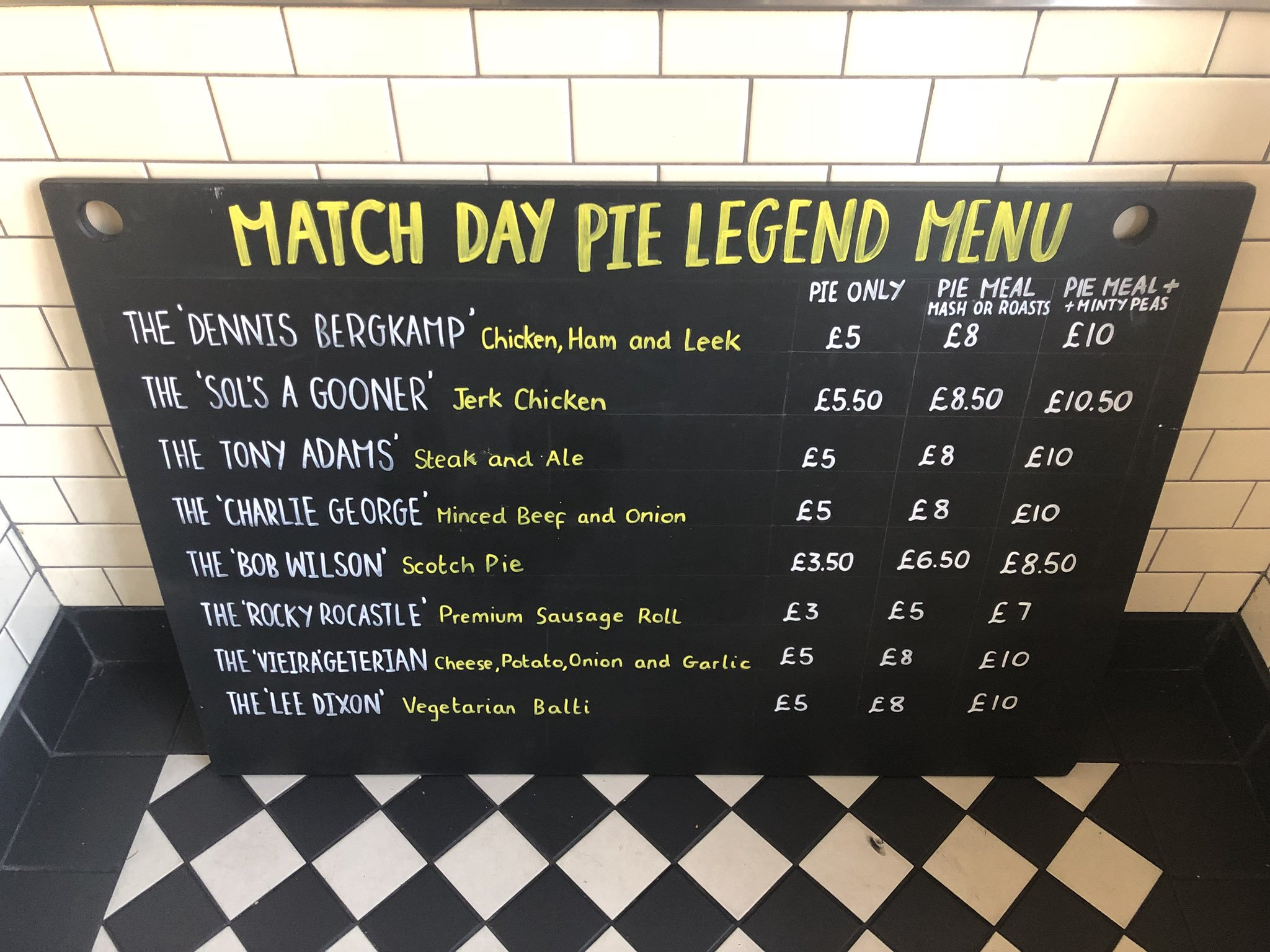 PieLegend Menu